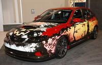 Subaru Impreza WRX disfrazado de Halloween