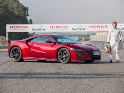 Fernando Alonso ya ha pilotado el Honda NSX en el Circuito de Estoril