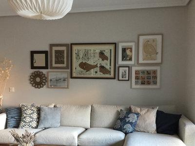 Guía práctica. Cómo colocar tus cuadros para conseguir una pared de decorador en Pinterest