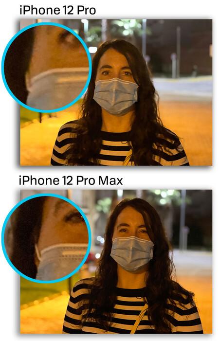 Iphone 12 Pro Max Retrato Noche Comparacion