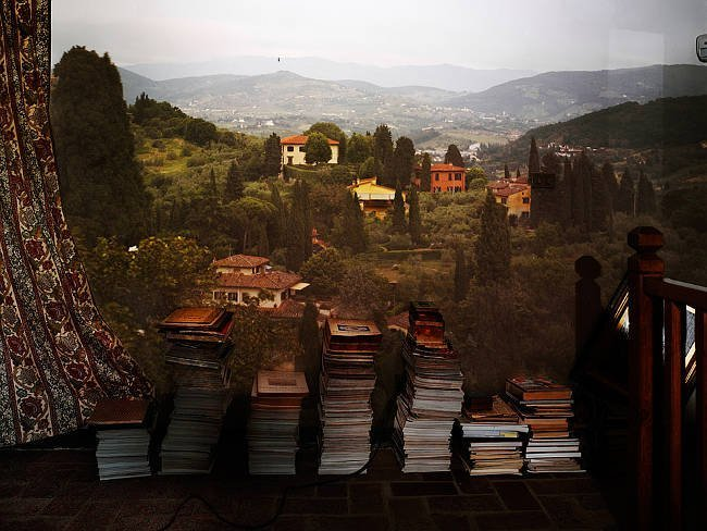 View Outside Florence with Books