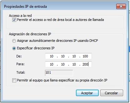 Rango de direcciones IP