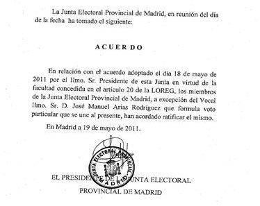 La Junta Electoral Provincial (no la Central) desautoriza la concentración de ayer en Sol