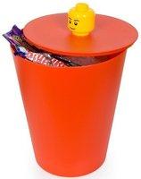 Un cubo de Lego para guardar los juguetes