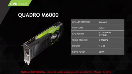 Nvidia Quadro M6000 Specs
