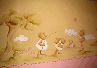 """Pilar Burguet pinta """"tu"""" propio cuento en la habitación de tu bebé"""