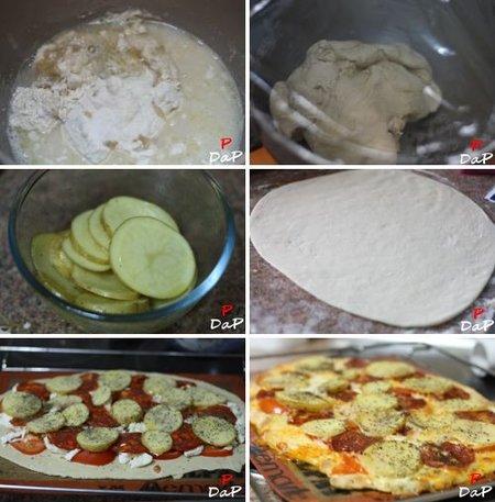 Cómo hacer pizza de patatas y chorizo
