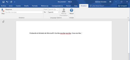 Microsoft lanza Dictate para que introduzcas texto en Word, Outlook y PowerPoint usando solo tu voz