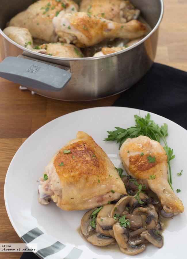 Receta de pollo asado con salsa de champi ones - Salsa para pollos asados ...