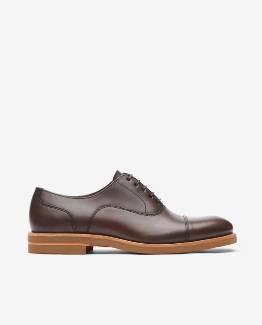 Zapatos de cordones de hombre Lottusse de piel en color marrón