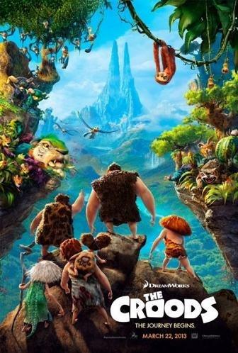 Imagen con el cartel de 'Los Croods'