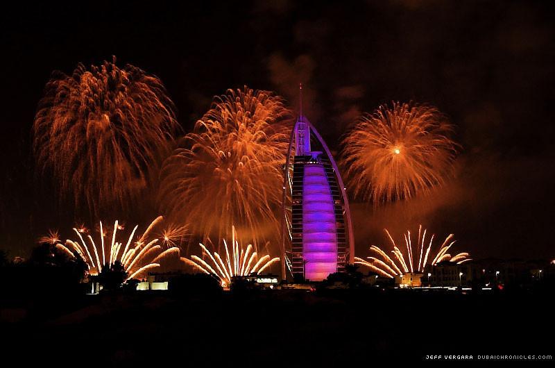 Foto de dubai fuegos artificiales año nuevo (1/4)