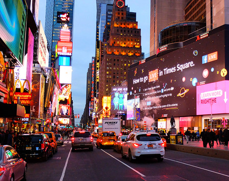 Theater District En Nueva York Times Square