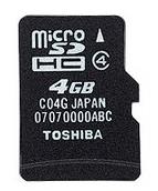 Tarjeta microSDHC de 4 GB de Toshiba