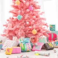¿Buena o mala idea? Un árbol de Navidad en color rosa
