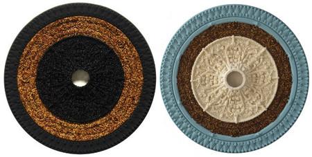 Discos aztecas elaborados con comida