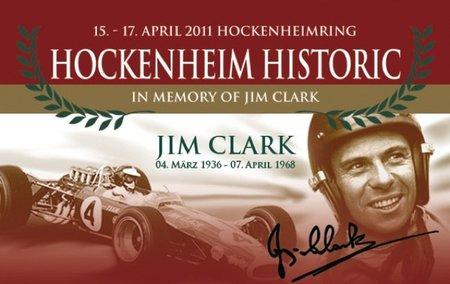 Homenaje a Jim Clark en el Hockenheimring