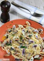 Receta de espaguetis con coquinas