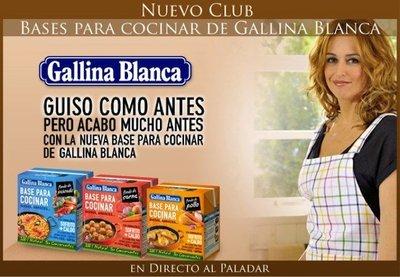 Nuevo Club Base para Cocinar de Gallina Blanca en Directo al Paladar
