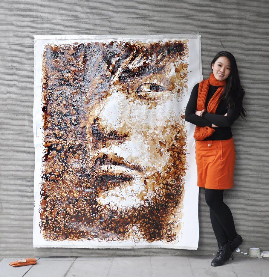 Foto de Arte con las manchas del café (1/6)
