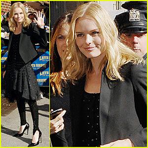 Kate Bosworth en el Show de Davis Letterman