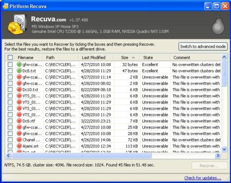Recuva Software Recuperar Archivos Borrados