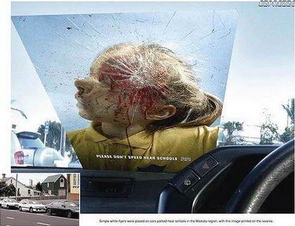 Cruda campaña para reducir la velocidad cerca de los colegios
