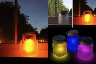 La luz del Sol y la de la Luna, guardadas en un bote de LEDs