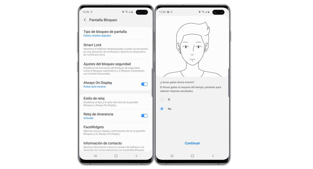 Samsung One UI 2.0 improves facial recognition, allowing you to log different