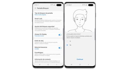 Samsung One UI 2.0 mejora el reconocimiento facial, permitiéndote registrar distintos 'looks'