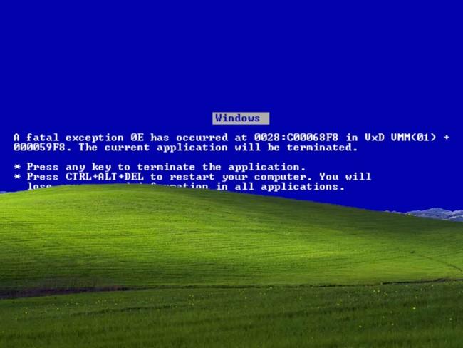 Windows Xp Blue Screen Death Bliss