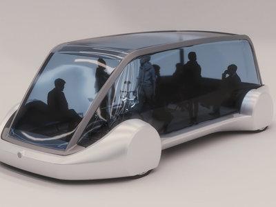 Los túneles de Elon Musk también servirán para trasporte público: así luce el vehículo eléctrico para pasajeros