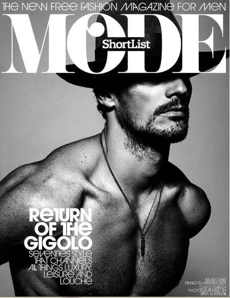 David Gandy portada de la nueva revista Shorlist Mode