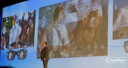 Samsung vuelve a anunciar una TV de 55 pulgadas con lentes especiales