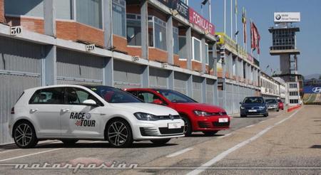Volkswagen Race Tour 2013, toma de contacto con los Golf GTI y GTD