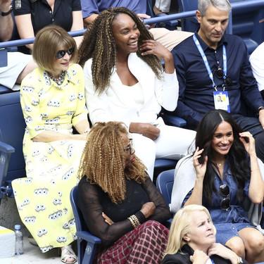 Meghan Markle, junto con Anna Wintour, no se pierde la final femenina del Open USA de tenis con este look vaquero