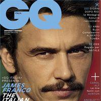 James Franco cierra el año con un primer plano en la portada de diciembre de GQ Italia