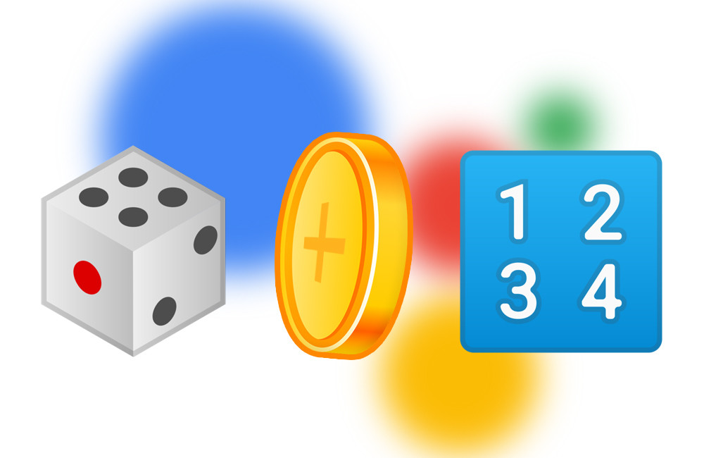 So you can ask the Wizard of Google to launch a coin, a dice or say a number at random