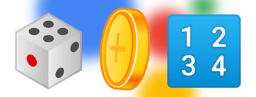 So you can ask the Wizard of Google to launch a coin, dice or tell you a random number
