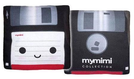 Cojines con forma de diskette