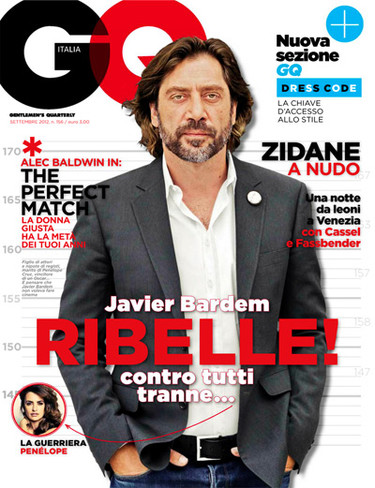 Javier Bardem y su vuelta a las revistas de moda con GQ Italia