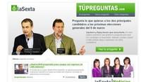 laSexta permitirá realizar preguntas a Zapatero y Rajoy a través de la web