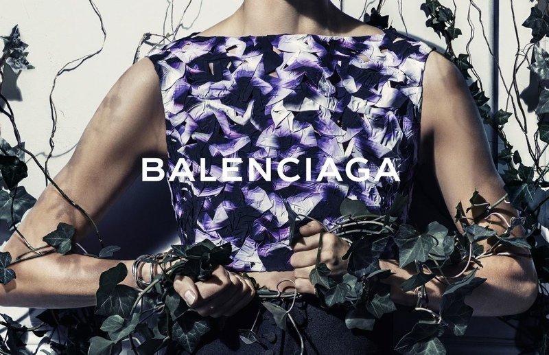 Foto de Daria Werbowy para Balenciaga Primavera-Verano 2014 (3/6)