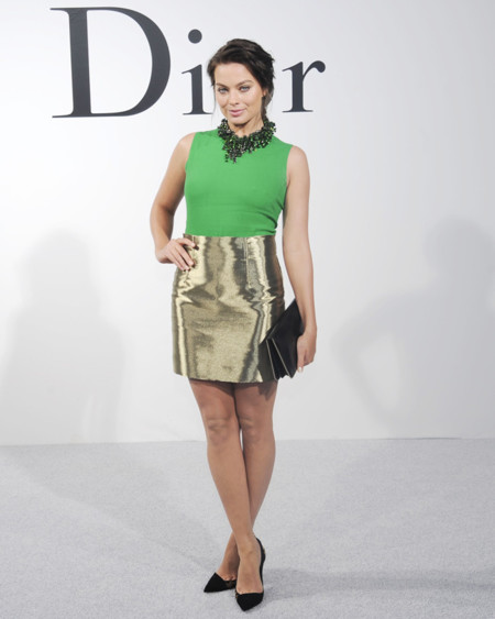 Margot Robbie en el desfile de Dior