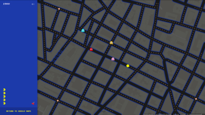 Juega al Pac-Man en el mundo real con Google Maps