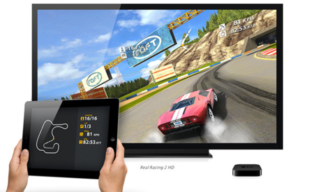Real Racing 2 HD en el iPad y el Apple TV