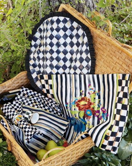 negro blanco dorado picnic