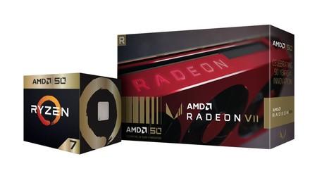 AMD cumple 50 años, y lo hace con ediciones especiales del Ryzen 7 2700X y la Radeon VII