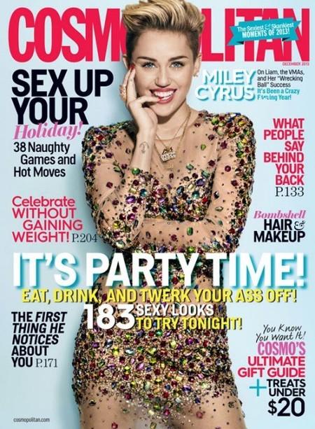 Miley Cyrus, en Cosmopolitan la lengua se usa sólo para rajar