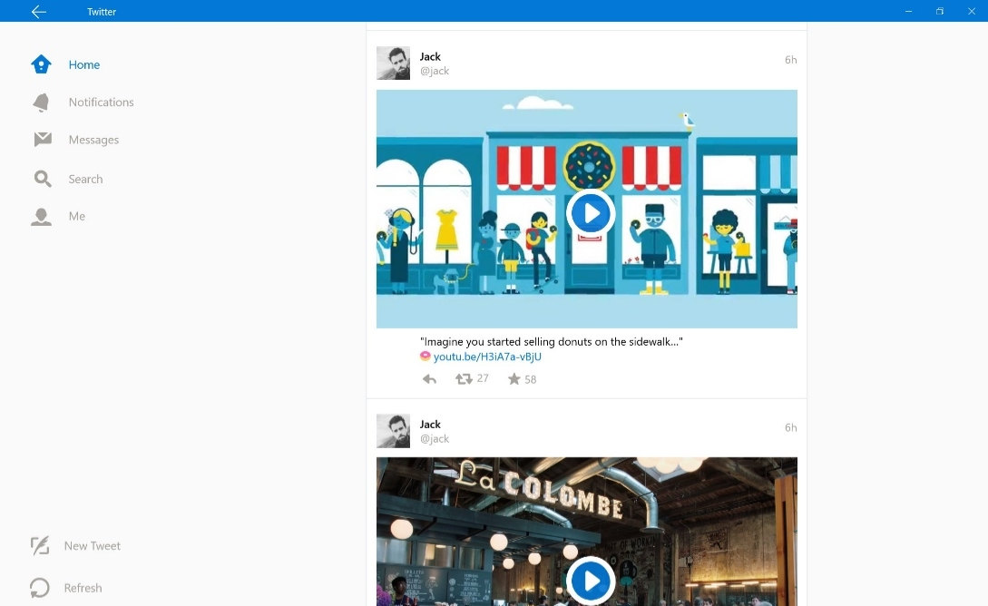 Twitter para Windows 10